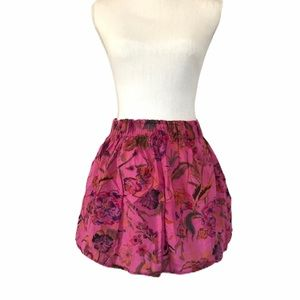 Band of Gypsies pink floral skirt medium